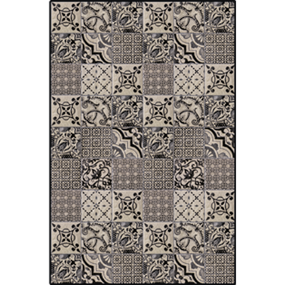 Tapis en vinyle gris 100x150cm-SONIA