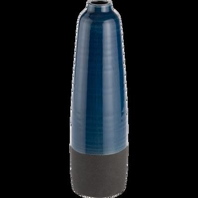 Vase en céramique bleu H43 cm-ARNO