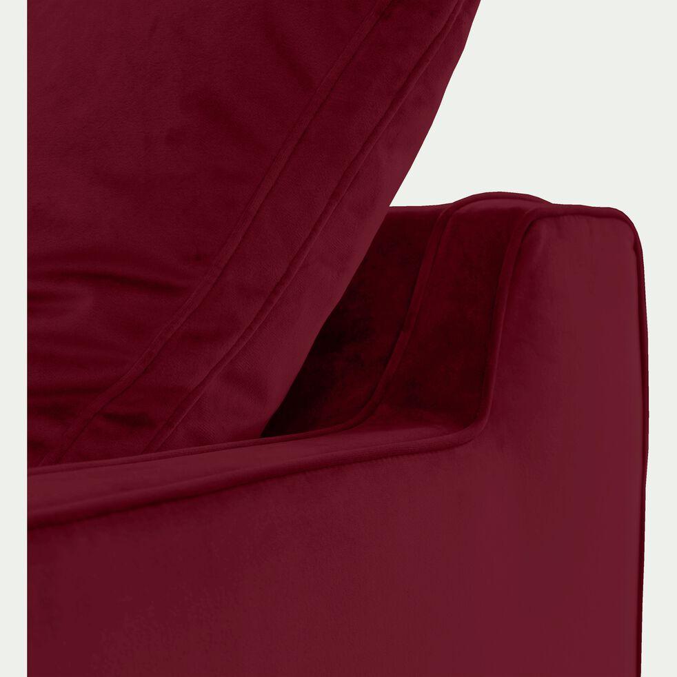 Canapé 3 places convertible en velours rouge sumac-LENITA