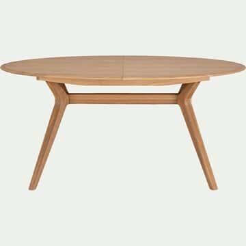 Table de repas ovale extensible bois massif - 6 à 8 convives-CARMEN
