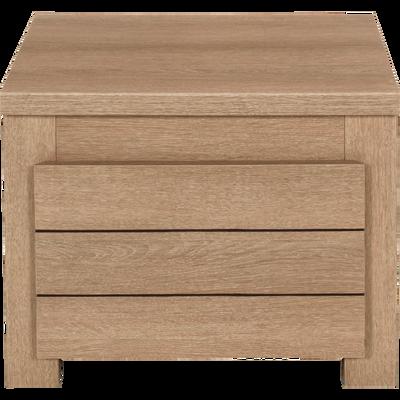 Table de chevet enfant finition chêne clair 1 tiroir-NATURELA