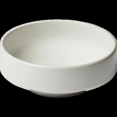 Coupelle en faïence blanc ventoux D15,5cm-VADIM