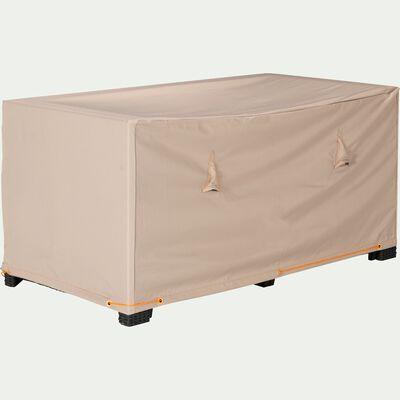 Protection taupe pour canapé d'extérieur (L130xP75xH60cm)-Housse