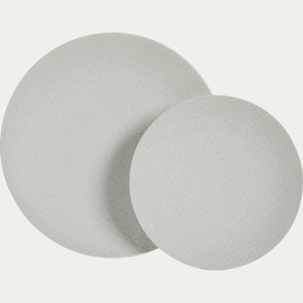 Assiette à dessert en grès blanc D21cm-BAHNA