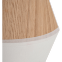 Applique murale en bois et tissu beige roucas 25x20x12cm-DOMUS