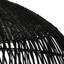 Suspension en rotin noir D46cm-MATHILDA