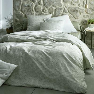 Housse de couette en coton motif Amande - 260x240 cm-CIGALO