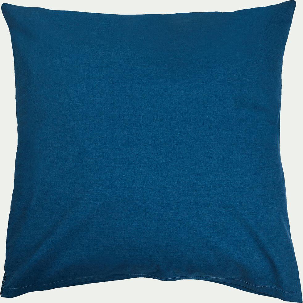 Housse de couette et 2 taies d'oreiller en coton motif mosaïque - bleu 260x240cm-MOSAIQUE