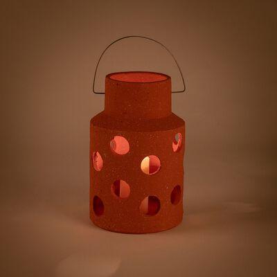 Lanterne ajourée en terre cuite - terracotta H35cm-VEZZANI