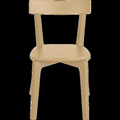 Chaise en bois beige nèfle-SUZIE