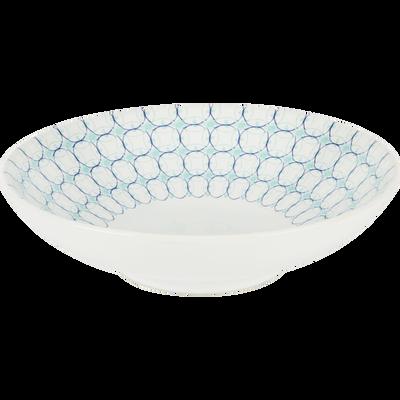 Assiette creuse en grès bleu D19cm-MOUCHA