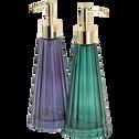 Distributeur de savon en verre bleu myrte-LILAS