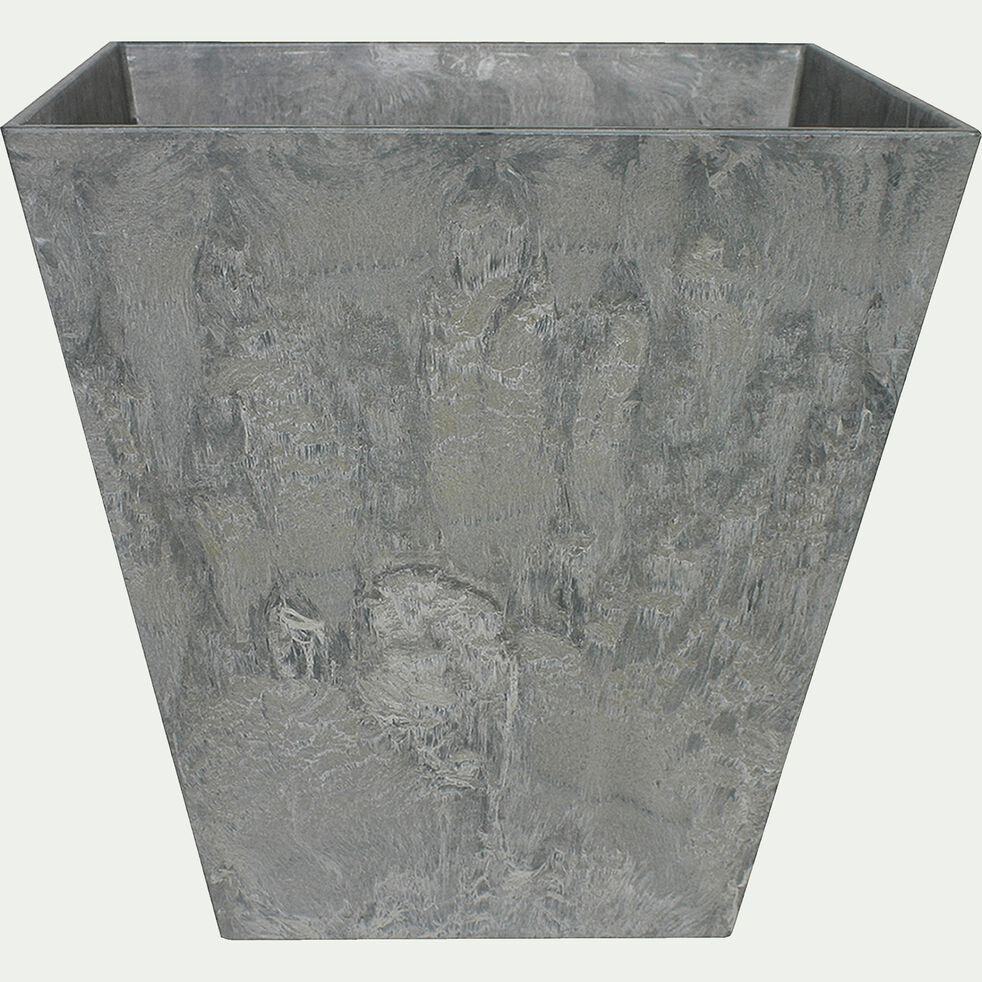 Pot à réserve d'eau - gris H29cm-Ella