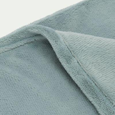 Plaid doux - bleu calaluna 130x170cm-ROBIN