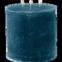 Bougie lanterne coloris bleu figuerolles D15xH15cm-BEJAIA