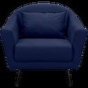 Fauteuil en tissu bleu myrte-VENUS