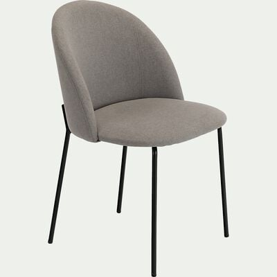 Chaise ronde en tissu - gris vésuve-FIONA