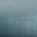 Pouf en tissu bleu D35cm-PLUME