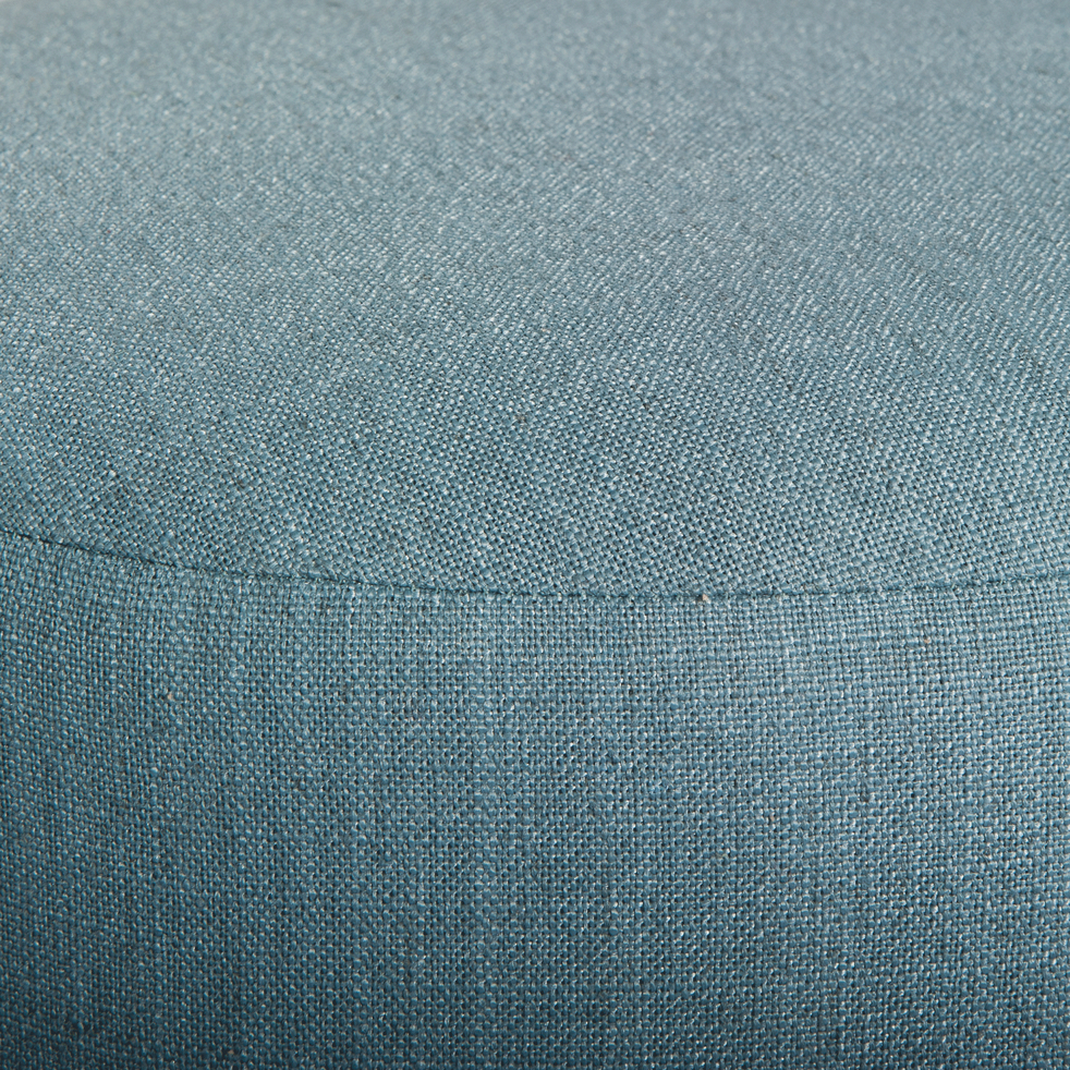 Pouf En Tissu Bleu D35cm Plume Poufs Et Repose Pieds Alinea