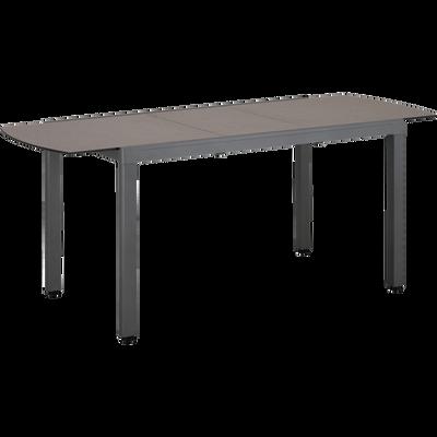 Table de jardin extensible en aluminium et céramique (4 à 6 places)-TICAO