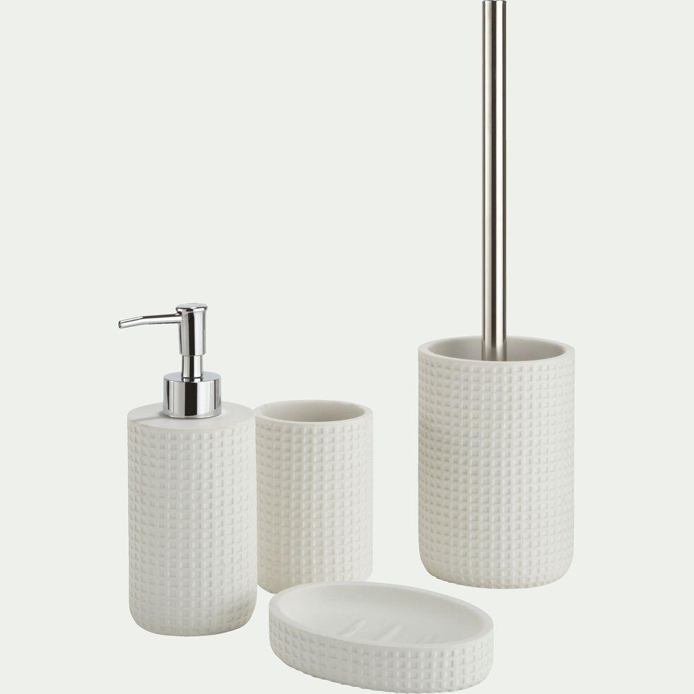 Porte-savon en polyrésine - blanc ventoux H12,7cm-LOUBET