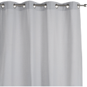 Rideau à oeillets en coton gris borie 140x300cm-CALANQUES