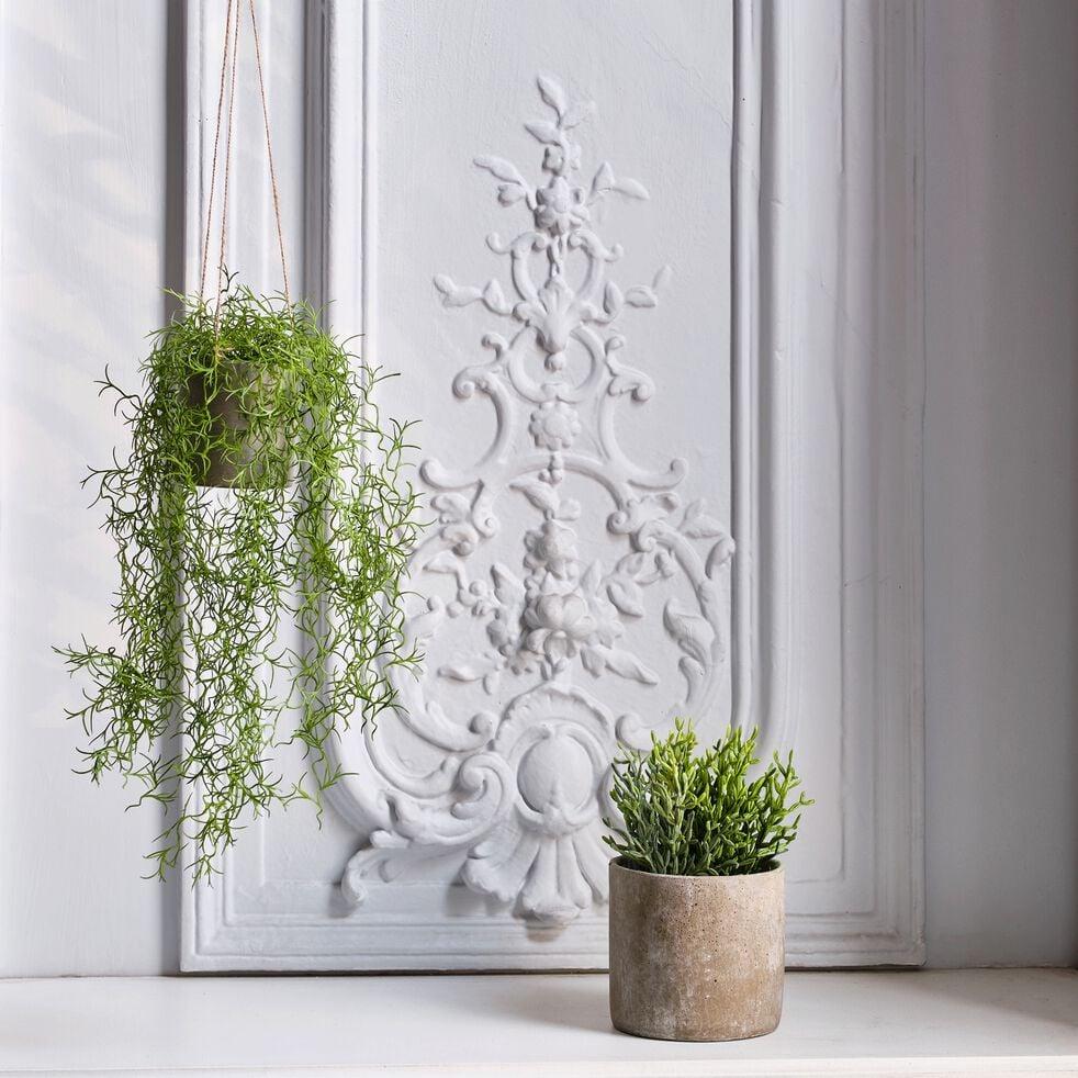 Plante tombante artificielle en pot - vert H81cm-PLANTE TOMBANTE