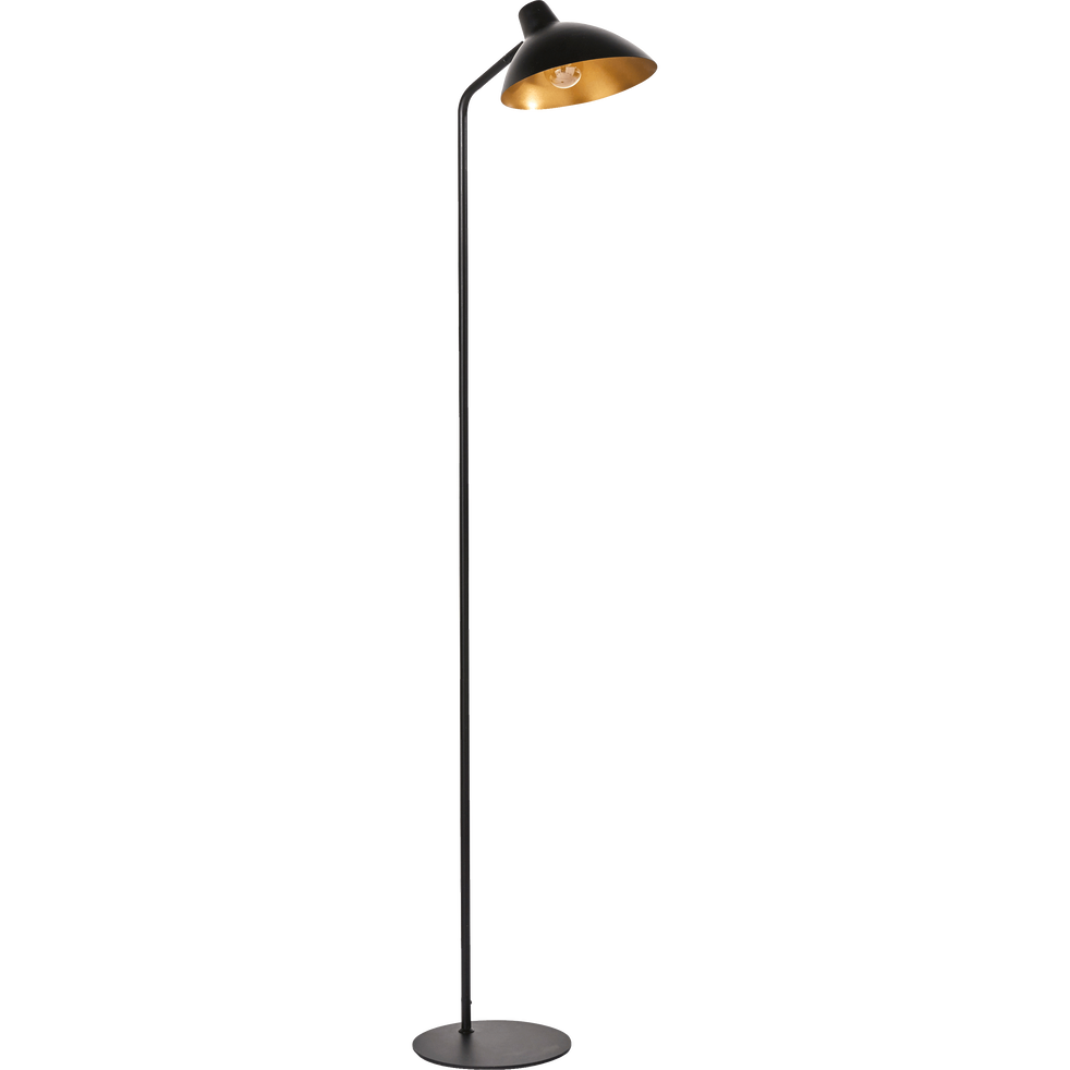 Lampadaire Orientable En Métal Noir Et Doré H153cm Jayda