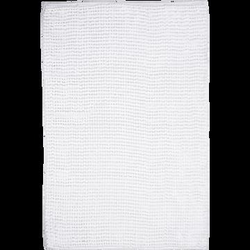 Tapis de bain polyester 50x80cm blanc ventoux-PICUS