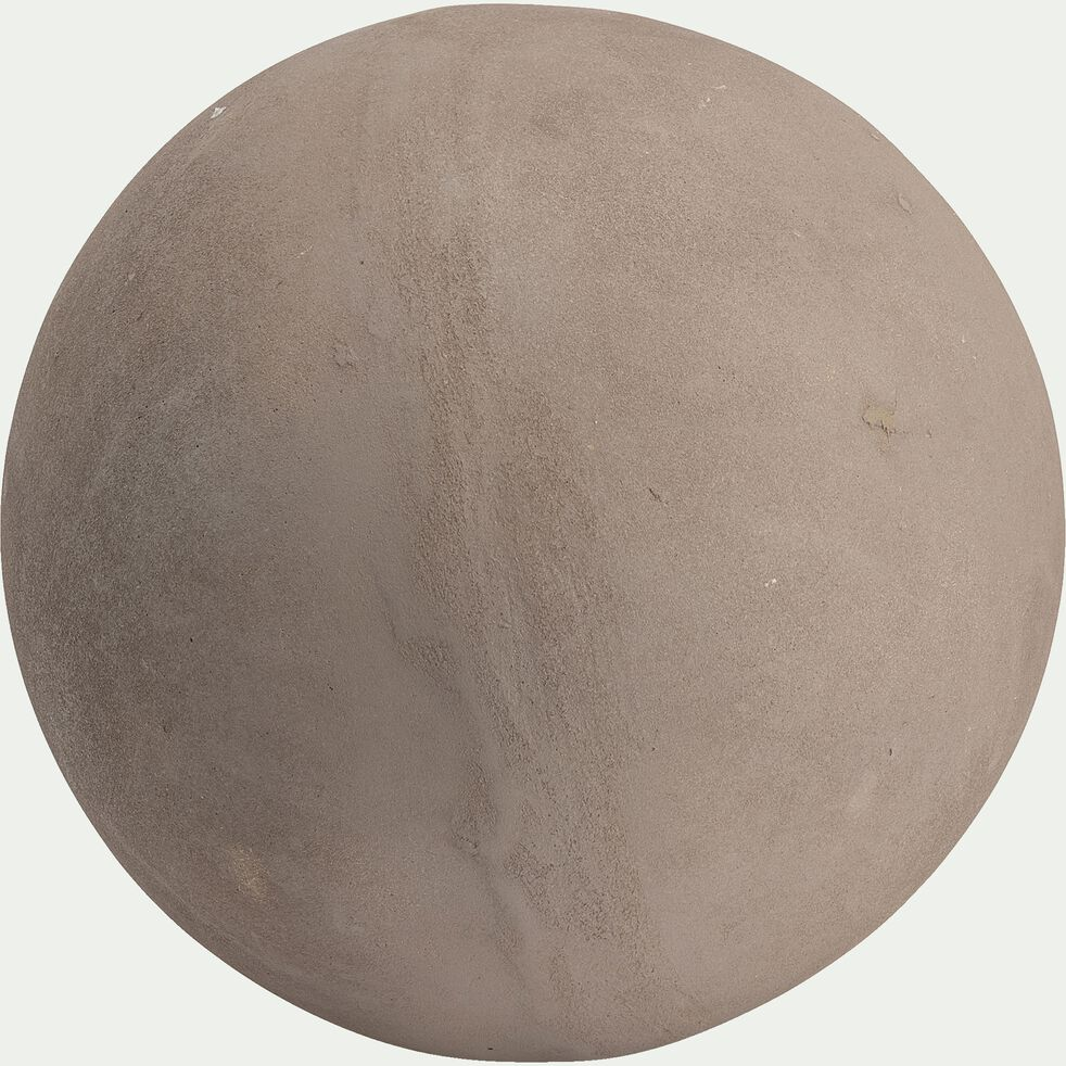 Boule décorative d'extérieur en résine - gris clair D36,5cm-ATLAN
