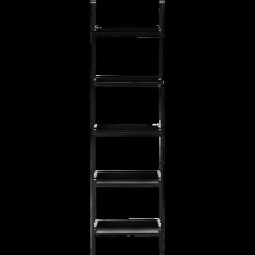 Etagère échelle en bois noir L46cm-ESCALO