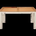 Table de jardin en eucalyptus et aluminium (6 places)-DOLE