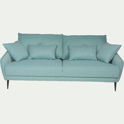 Canapé 3 places fixe en tissu vert d'eau-DOME