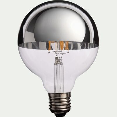 Ampoule décorative LED chromé D9,5cm culot E27-GLOBE