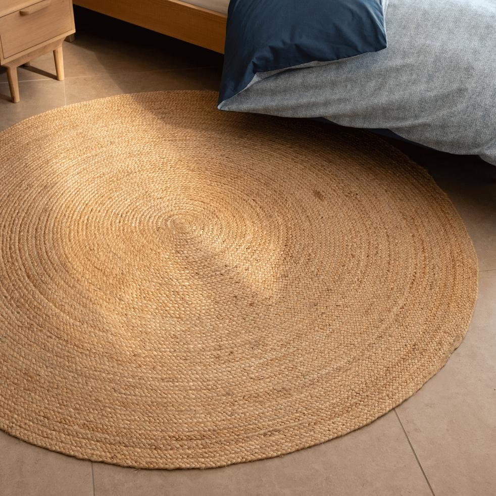 tapis rond en jute d120cm rush 120 cm alinea. Black Bedroom Furniture Sets. Home Design Ideas