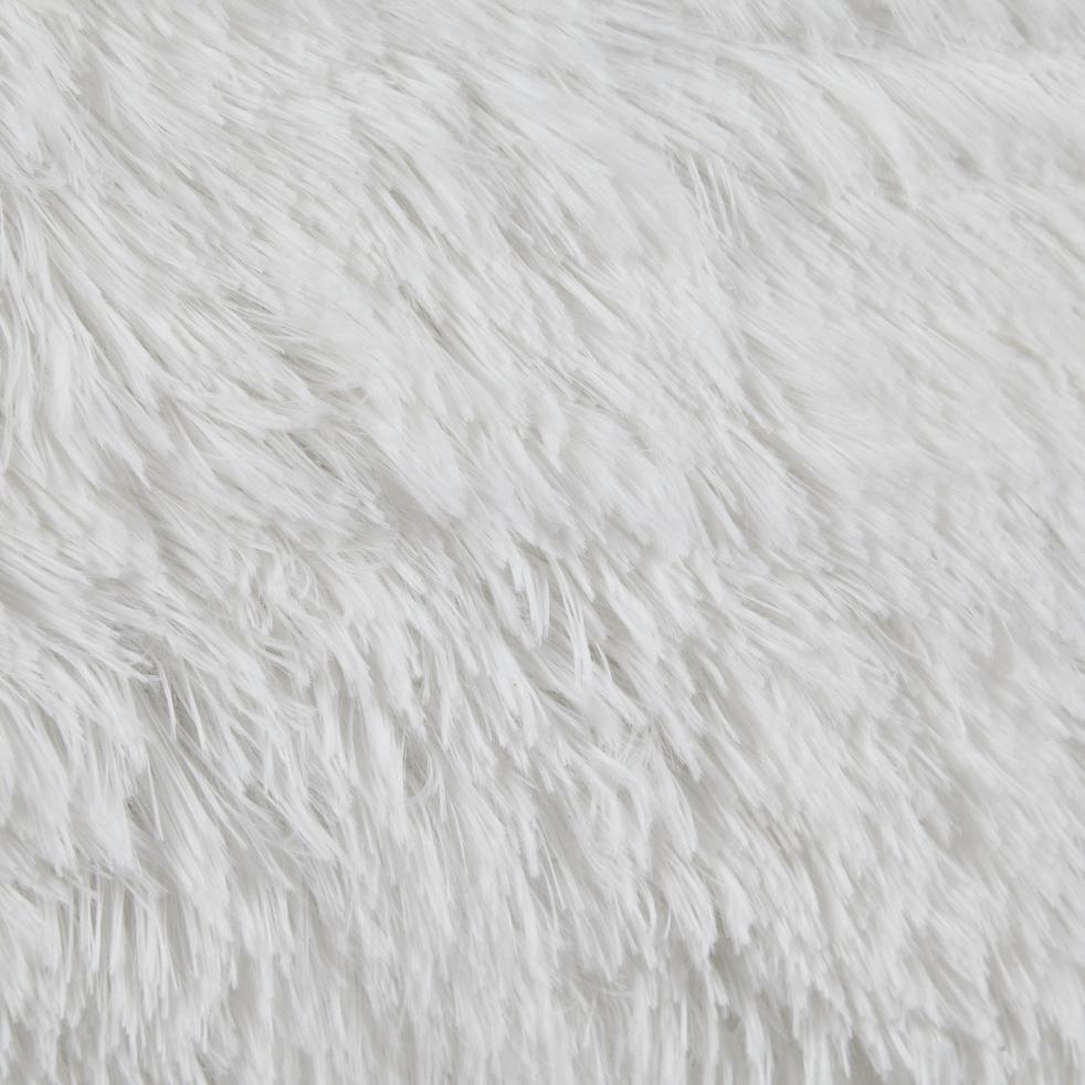 housse de coussin poils longs blancs 40x60cm elec. Black Bedroom Furniture Sets. Home Design Ideas