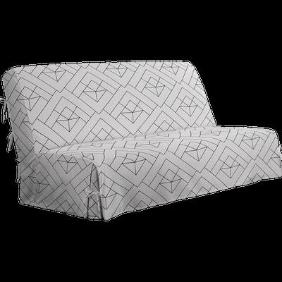 Housse à nouettes pour BZ à motifs gris 140cm-HOUSSE