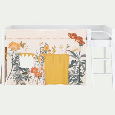 Tente de lit enfant à motif Prairie - L106xl152cm-Mas