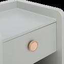Table de chevet grise effet bois-SIMPLY