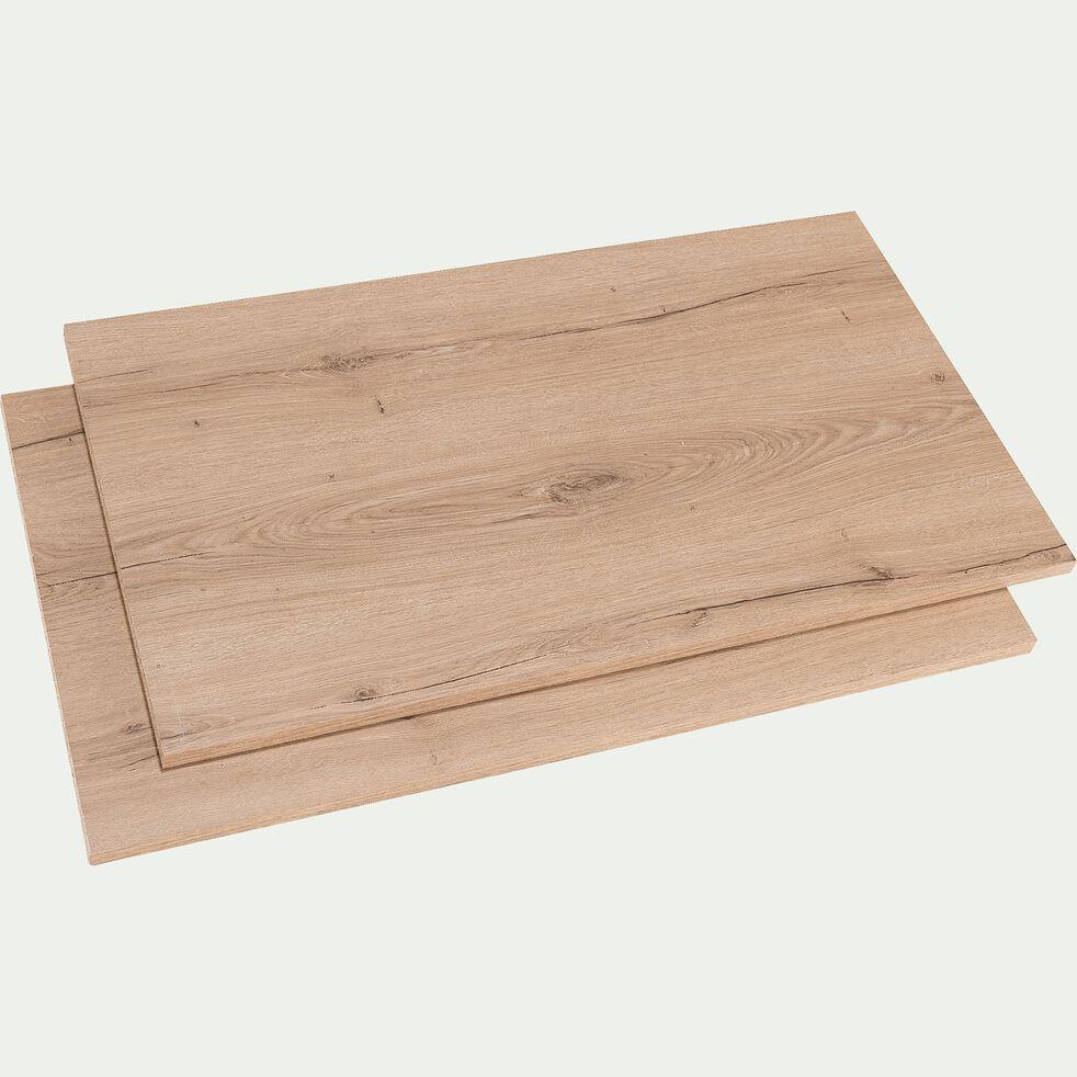 2 étagères en bois imitation chêne-NESTOR