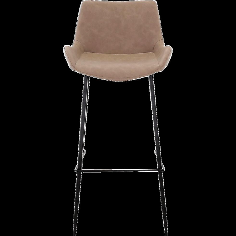 chaise de bar en simili beige h75cm gedeon chaises et tabourets de bar alinea. Black Bedroom Furniture Sets. Home Design Ideas