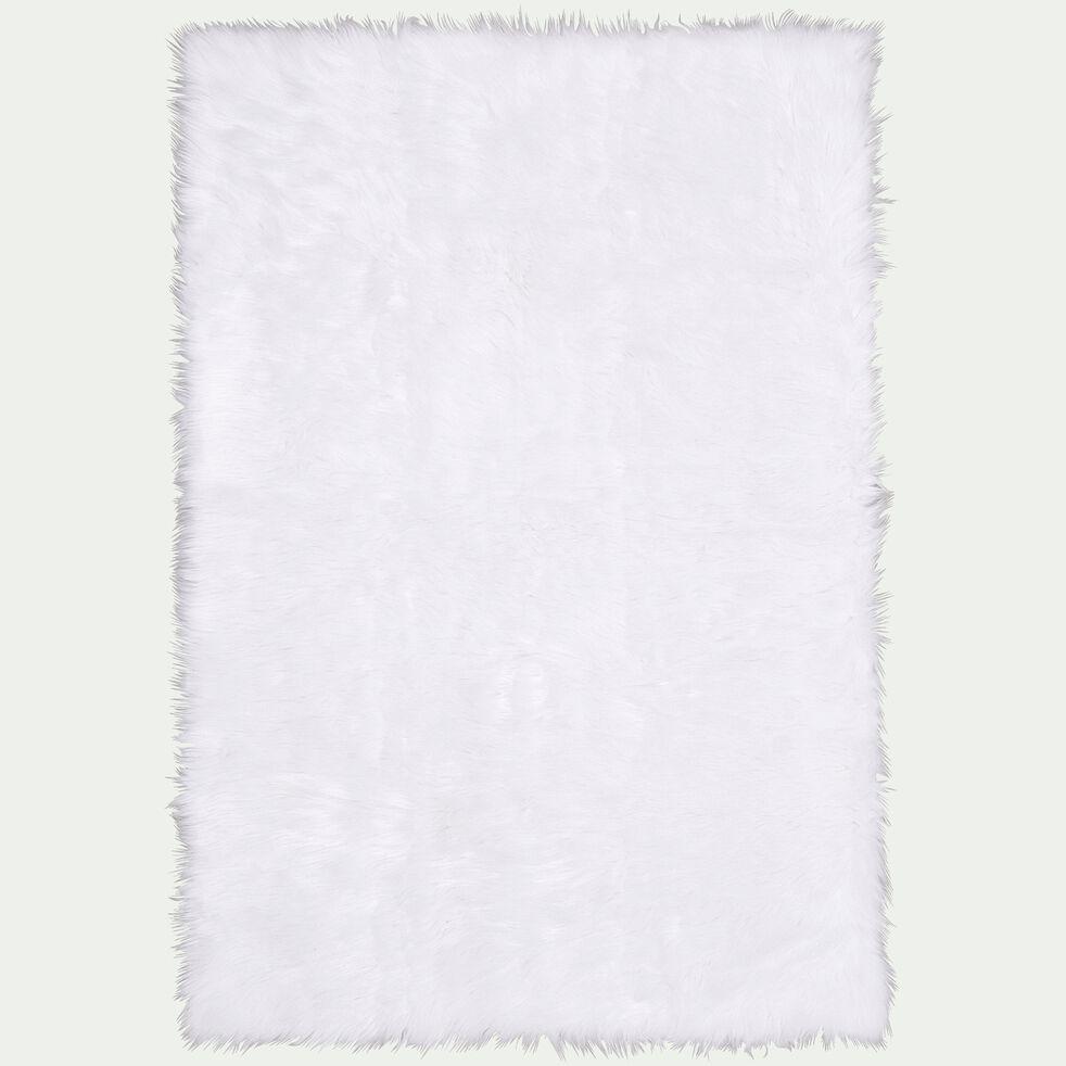 Tapis imitation fourrure - blanc 100x150cm-BUNDCHEN