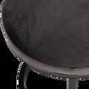 Tabouret en tissu - gris restanque - H46,5cm-PINSON