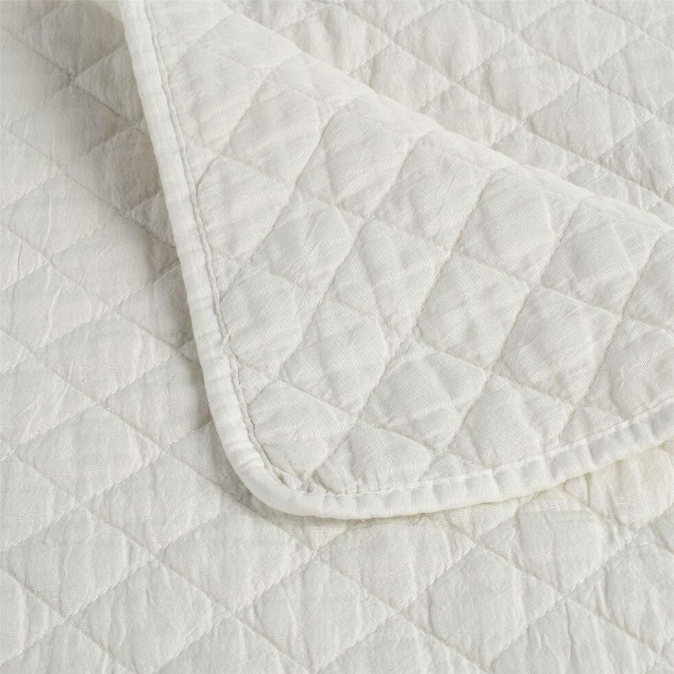 Couvre-lit effet lavé - blanc ventoux 230x250cm-THYM