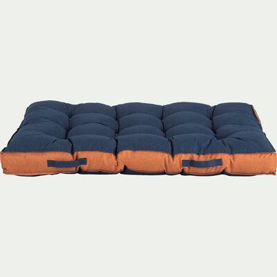 Matelas pour palette en tissu - Bleu céou 120x80cm-PAOLI