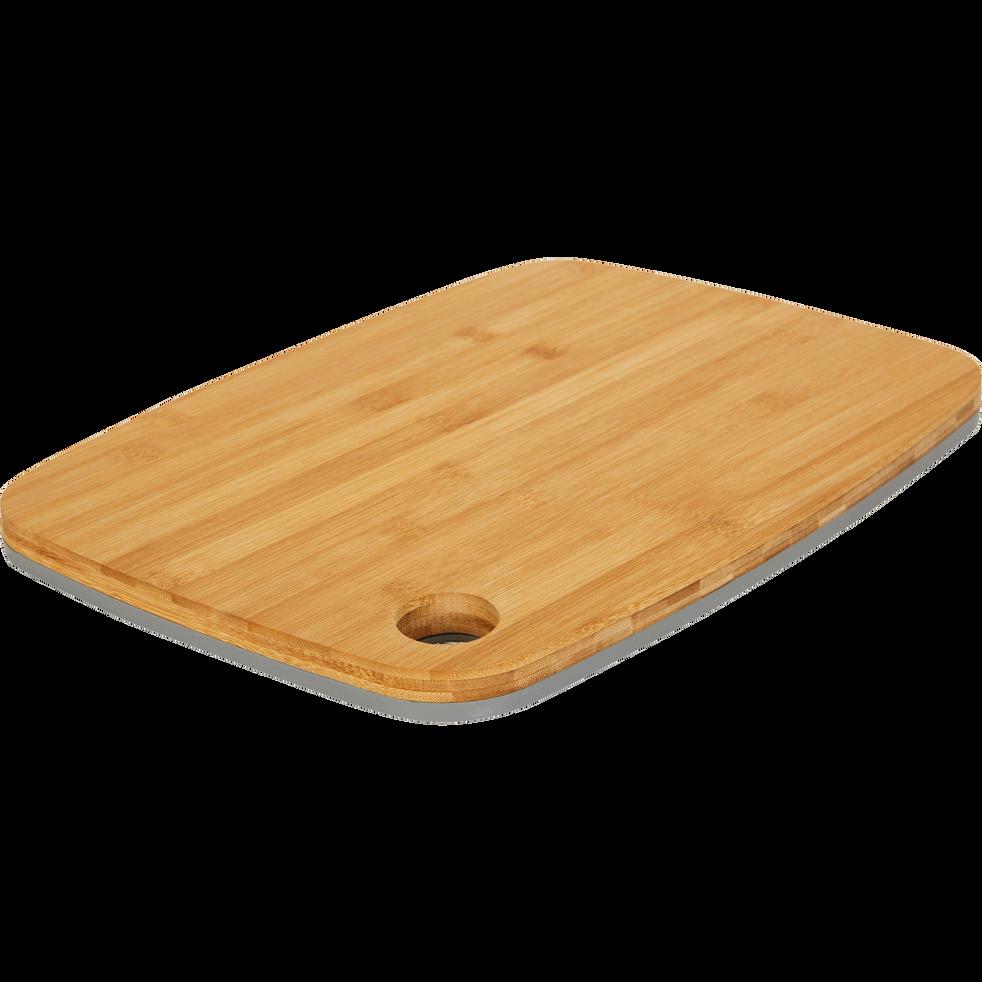 Planche à découper bi-matière en bambou grise 38x28cm-RIOU