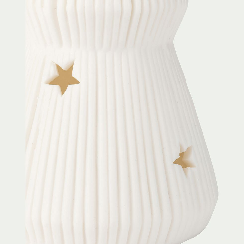 Sapin déco - H16,80xD 6,71cm blanc-KESAR