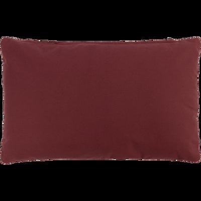 Coussin en coton rouge 30x50cm-CALANQUES