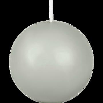 Bougie ronde vert olivier D8cm-HALBA