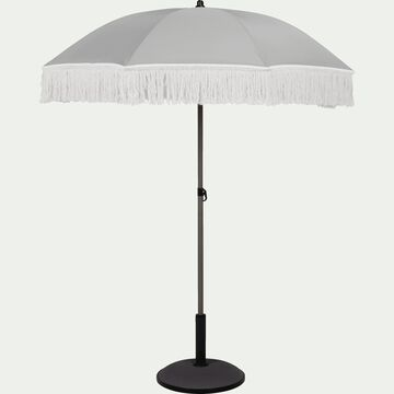 Parasol à franges - gris borie D160cm-RICCIA